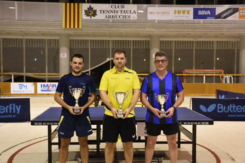 Xavier Panareda guanyador del 8è Open Tennis Taula Vila d'Arbúcies