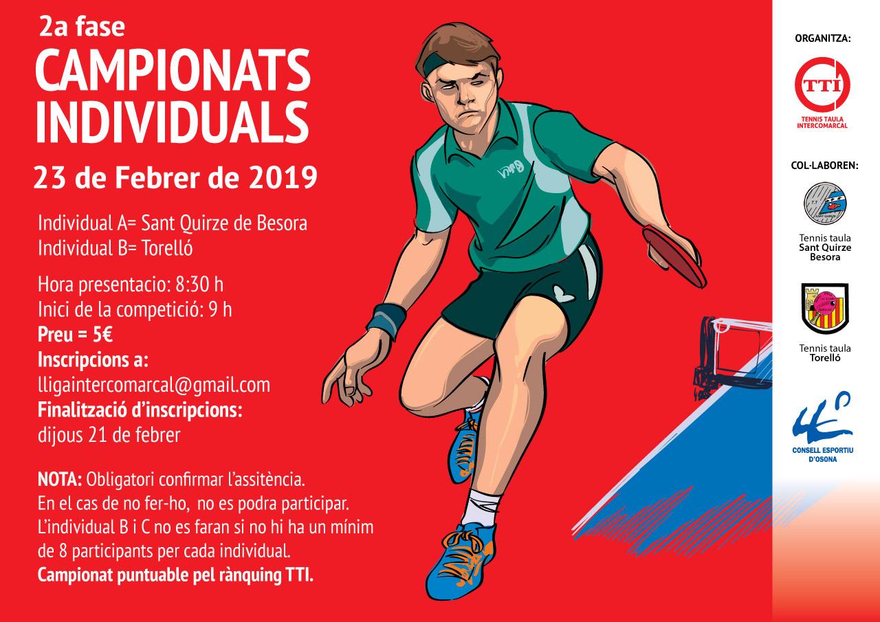 2a fase Campionats Individuals A i B