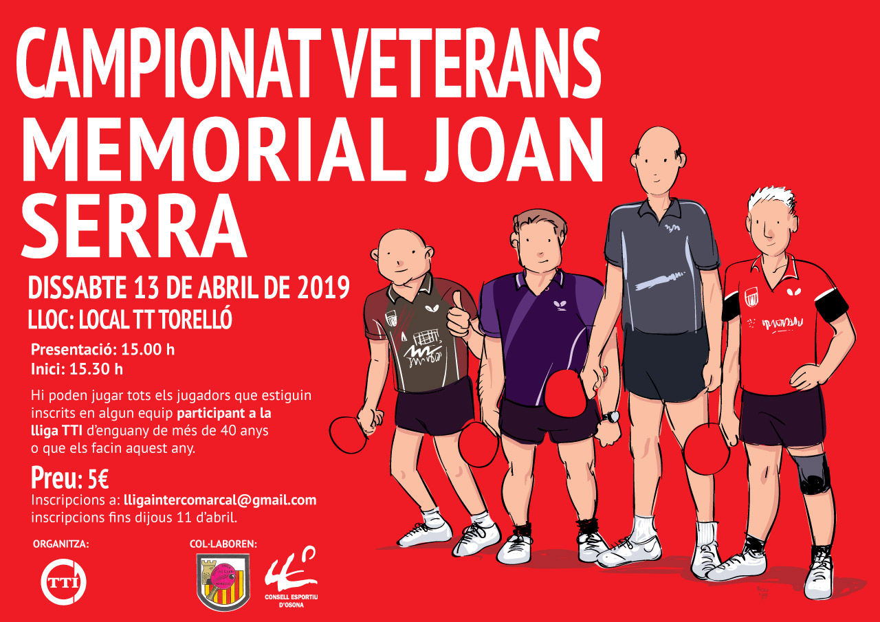 Campionat veterans Memorial Joan Serra